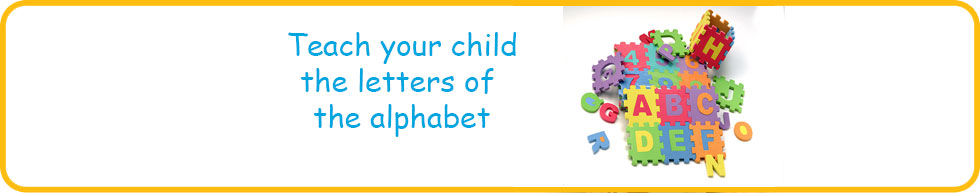 Fun activities to teach your child the letters of the alphabet