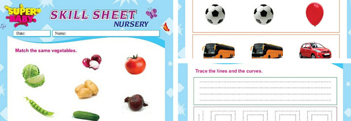 Nursery Worksheets in India